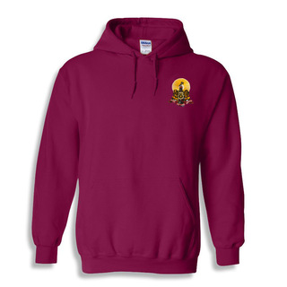 DISCOUNT-Kappa Alpha Crest - Shield Emblem Hooded Sweatshirt