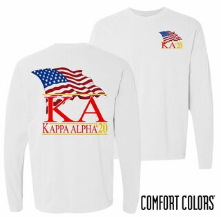 Kappa Alpha Patriot Long Sleeve T-shirt - Comfort Colors