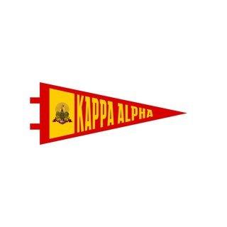 "Kappa Alpha Pennant Decal 4"" Wide"