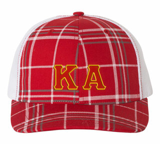 Kappa Alpha Plaid Snapback Trucker Hat - CLOSEOUT