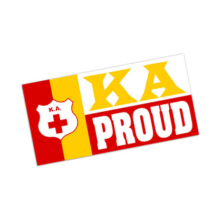Kappa Alpha Proud Bumper Sticker - CLOSEOUT