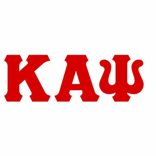 Kappa Alpha Psi Big Greek Letter Window Sticker Decal