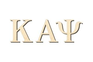 Kappa Alpha Psi Big Wooden Greek Letters