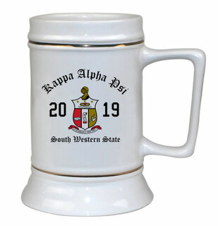Kappa Alpha Psi Ceramic Crest & Year Ceramic Stein Tankard - 28 ozs!
