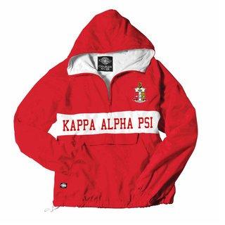 Kappa Alpha Psi Charles River Custom Stripe Greek Pullover Anorak