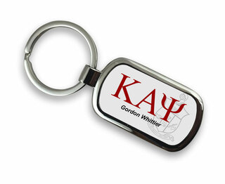 Kappa Alpha Psi Chrome Crest - Shield Key Chain