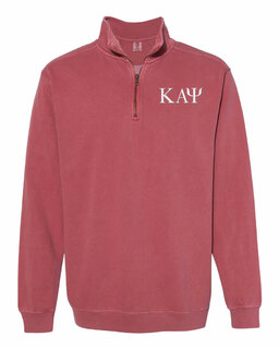 Kappa Alpha Psi Comfort Colors Garment-Dyed Quarter Zip Sweatshirt