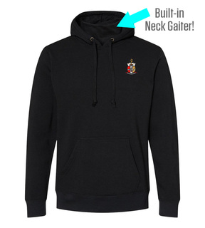 Kappa Alpha Psi Crest Gaiter Fleece Hooded Sweatshirt