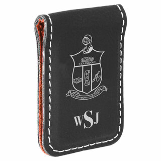 Kappa Alpha Psi Crest Leatherette Money Clip
