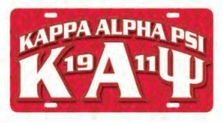 Kappa Alpha Psi D9 Founders License Plates