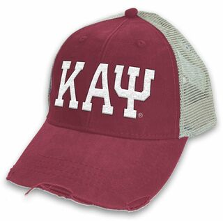 Kappa Alpha Psi Distressed Trucker Hat