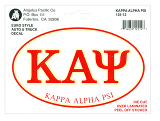 Kappa Alpha Psi Euro Decal Oval Sticker