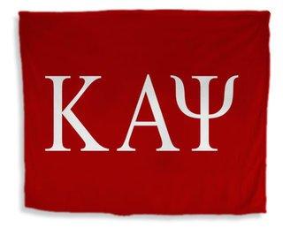 Kappa Alpha Psi Flag Giant Velveteen Blanket