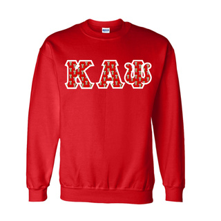 Kappa Alpha Psi Fraternity Crest - Shield Twill Letter Crewneck Sweatshirt