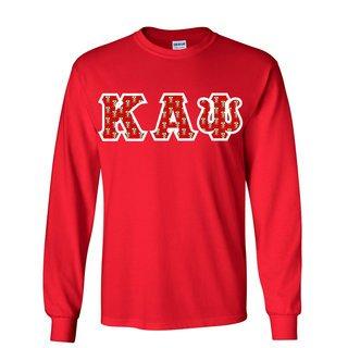 Kappa Alpha Psi Fraternity Crest - Shield Twill Letter Longsleeve Tee