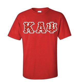Kappa Alpha Psi Fraternity Crest Twill Letter Tee