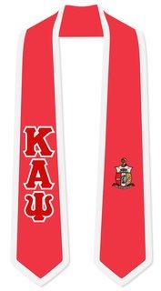Kappa Alpha Psi Greek 2 Tone Lettered Graduation Sash Stole