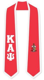 DISCOUNT-Kappa Alpha Psi Greek 2 Tone Lettered Graduation Sash Stole