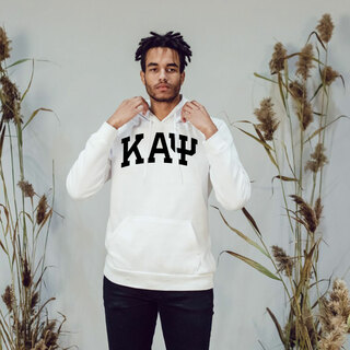 Kappa Alpha Psi Greek Lettered Arch Hooded Sweatshirt