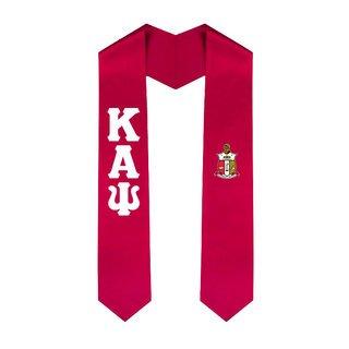 Kappa Alpha Psi Greek Lettered Graduation Sash Stole With Crest