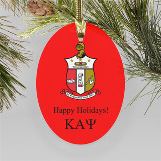 Kappa Alpha Psi Holiday Color Crest - Shield Ornament