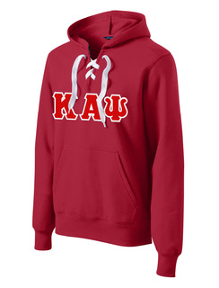DISCOUNT-Kappa Alpha Psi Lace Up Pullover Hooded Sweatshirt