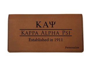 Kappa Alpha Psi Leatherette Checkbook Cover