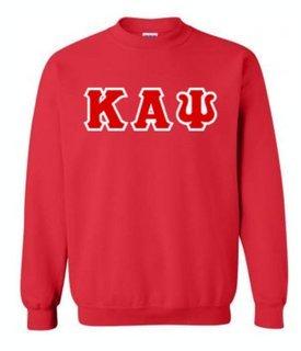 Kappa Alpha Psi Sewn Lettered Crewneck Sweatshirt