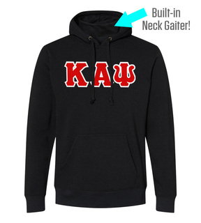 Kappa Alpha Psi Lettered Gaiter Fleece Hooded Sweatshirt