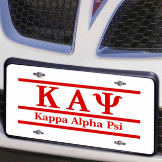 Kappa Alpha Psi Lettered Lines License Cover