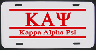 Kappa Alpha Psi License Plate