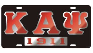 Kappa Alpha Psi License Plate - Black, Founded