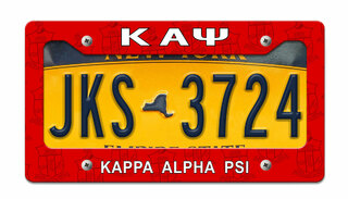 Kappa Alpha Psi License Plate Frame
