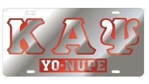 Kappa Alpha Psi License Plate - Silver, Call