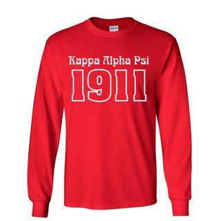 Kappa Alpha Psi Logo Long Sleeve Tee