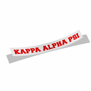 Kappa Alpha Psi Long Window Sticker