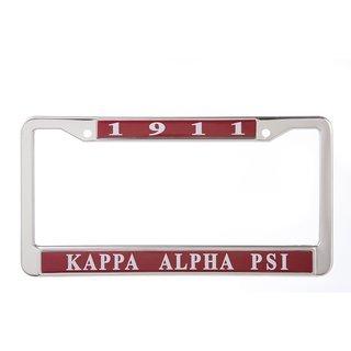Kappa Alpha Psi Metal License Plate Frame