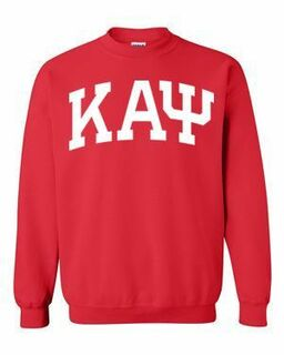 Kappa Alpha Psi Greek Lettered Arch Crewneck Sweatshirt