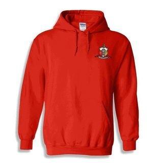 DISCOUNT-Kappa Alpha Psi Crest - Shield Emblem Hooded Sweatshirt