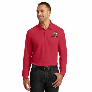 DISCOUNT-Kappa Alpha Psi Emblem Long Sleeve Polo
