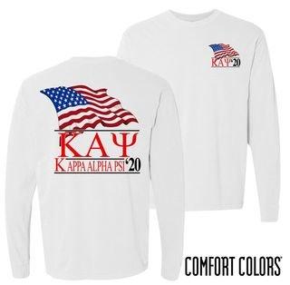 Kappa Alpha Psi Patriot Long Sleeve T-shirt - Comfort Colors