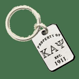 Kappa Alpha Psi Property of Tag Keychain