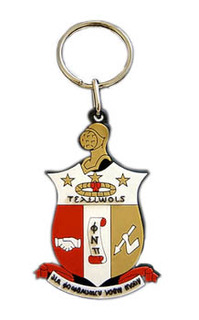 Kappa Alpha Psi Rubber Crest Key Chain
