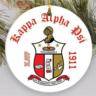 Kappa Alpha Psi Round Christmas Shield Ornament