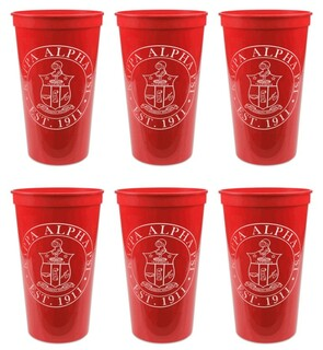 Kappa Alpha Psi Set of 6 Big Plastic Stadium Cups