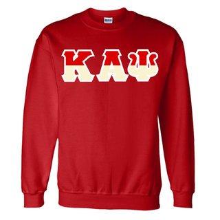 Kappa Alpha Psi Two Tone Greek Lettered Crewneck Sweatshirt