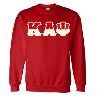 Kappa Alpha Psi Two Tone Greek Lettered Crewneck Sweatshirt