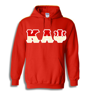 Kappa Alpha Psi Two Tone Greek Lettered Hooded Sweatshirt