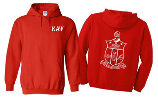 Kappa Alpha Psi World Famous Crest - Shield Printed Hooded Sweatshirt- $35!