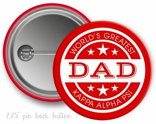 Kappa Alpha Psi World's Greatest Dad Button